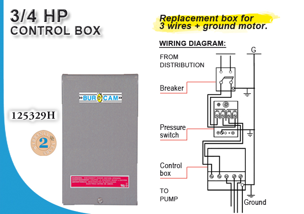 Wiring Diagram Of Control Panel Box Of Submersible Water Pump : Burcam water in pumps and systems control box wire
