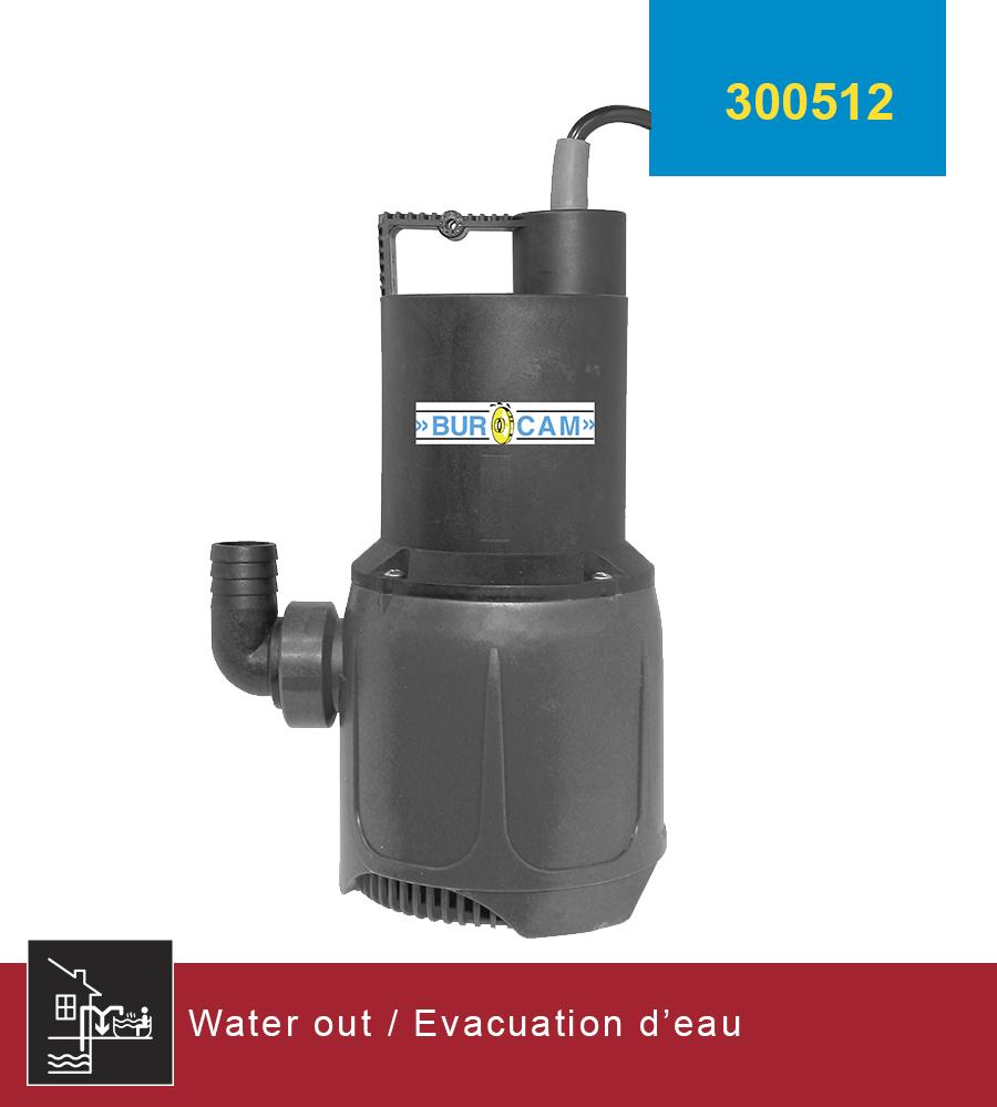 Burcam pompes d 39 evacuation pompes d 39 utilite for Rigole d evacuation d eau