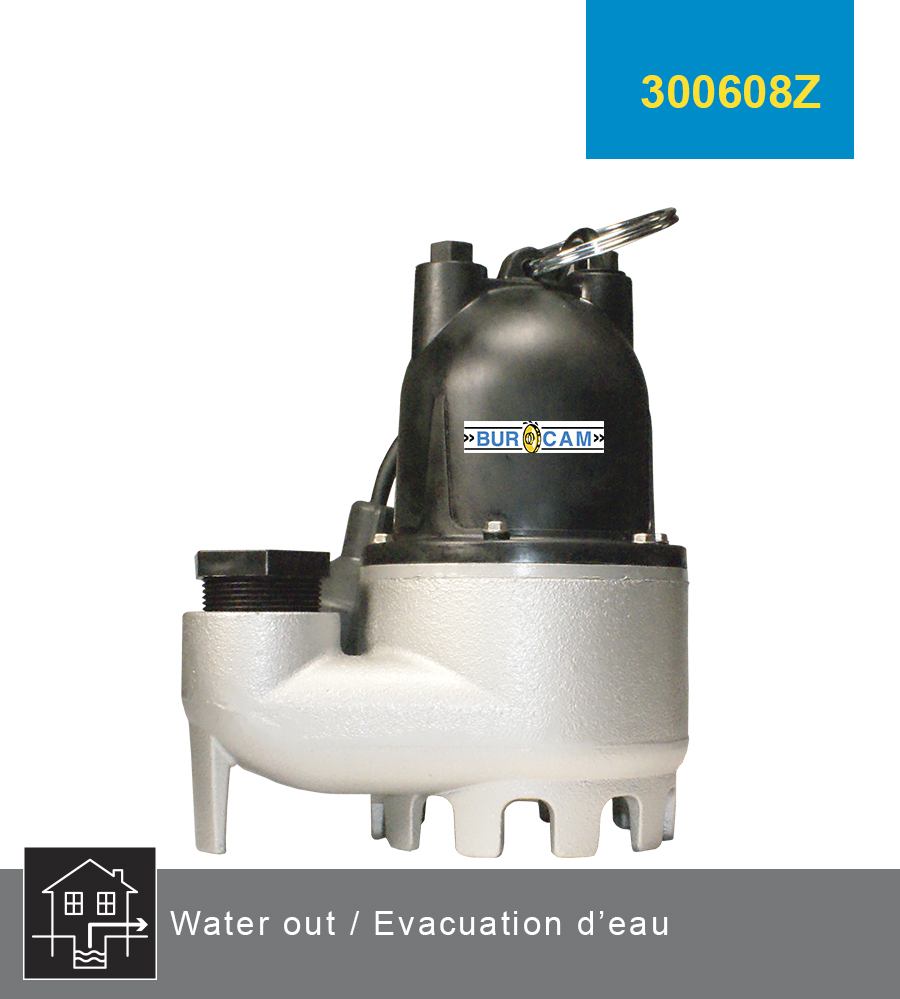 BURCAM manufactures submersible sump pumps made of