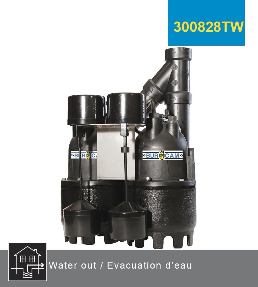 Burcam evacuation d 39 eau pompes de puisard submersible for Rigole d evacuation d eau